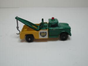 Matchbox #13D-Dodge Wreck Truck  RESTO-MODIFIED Green Cab/Yellow back/thin boom