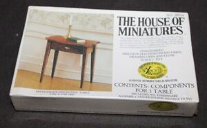 BOXED X-Acto HOUSE OF MINIATURES Dollhouse Kit HEPPLEWHITE SERPENTINE TABLE
