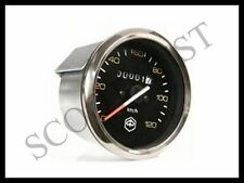 Vespa LML Speedo Speedometer Black Face Chrome Ring PX Old P80-200E 125 150