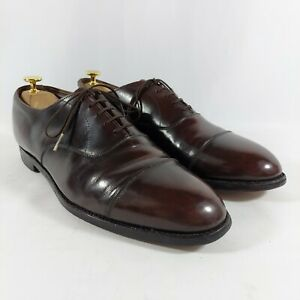 """E.T. Wright """"Cordwainer Wright"""" Arch Preserver Vintage Cap Toe Oxfords 11D USA"""