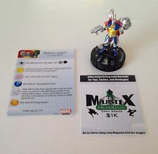 Heroclix Invincible Iron Man set Death's Head #028 Rare figure w/card!