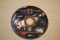 GOD OF WAR II 2 PS2 Promotional Reel Display DVD RARE SCARCE Behind The Scenes