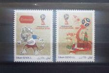 Lebanon 2018 Russia World Cup MNH stamp set football