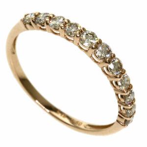 0.5ct Diamond Ring K18 Yellow Gold  1.1g