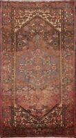 Vintage Tribal Geometric Handmade Area Rug Traditional Oriental Wool Carpet 4x7