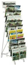 Wire Newspaper Selling Display Rack Foldable Lightweight Metal Magazine Stand