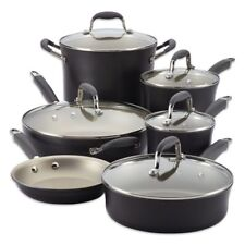Anolon Advanced Pewter/Grey 11 Piece Cookware Set pots and pans