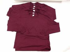 C3 Lot of 6 Jerzees Men's Shirt Size L Top Tee Red Cotton Dri power Active New