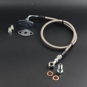 Turbo Oil Feed Line Kit For MAZDA RX-7 FC3S Garrett T04B T04E T04S