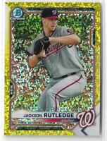 2021 Bowman baseball yellow parallel Jackson Rutledge 08/75 Washington Nationals