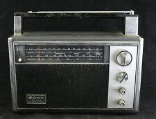 Vtg 1970 Sony 7F-82W Solid State 12-Transistor 4-Band Portable Radio FM AM Japan