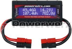 Powerwerx DC Inline Power Analyzer, 45A Continuous, 12 Ga, Powerpole Connectors