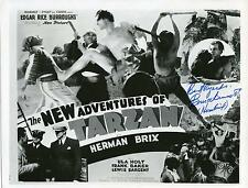 BRUCE BENNETT AKA HERMAN BRIX IN TARZAN SERIAL ACTOR SIGNED PHOTO AUTOGRAPH