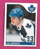 1985-86 OPC  # 210 LEAFS AL IAFRATE ROOKIE NRMT-MT  CARD (INV# D7796)
