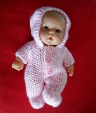 "Doll Clothes Hand-knit Vintage Style Pink Easter Suit Fits 8"" Berenguer Kewpie"