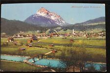 Österreich Postkarte gelaufen Ansicht Mittenwald Wetterstein