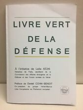 Livre Vert De La Defense Daniel Cohn-Bendit Paperback 2014