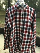 Old Navy Classic Plaid Checks Button Down collared Long Sleeve Shirt XXL