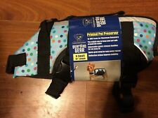 "Blue Polka Dot Doggy Life Jacket for x-sm-10"" length-CLOSEOUT $10.99..-FREE SH"