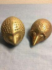 Vintage Brass Hedgehog Pair Female Male 41/2�. B1