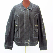 Lane Bryan Venezia Womens Size 22 24 Denim Jacket with Zippered Pockets Stretch