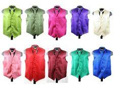 Men's Vertial tone tone  Vest and tie Combo matching tie adjustable back  solid