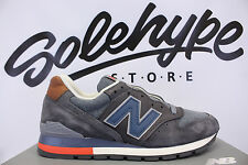 NEW BALANCE 996 DISTRICT RETRO SKI MADE IN USA GREY NAVY BROWN M996DSKI SZ 7