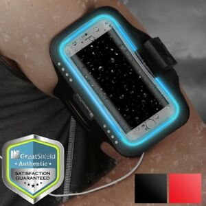 LED Safety Armband For Galaxy S9+ iPhone 8 Plus X Sports Gym Running Case Cover