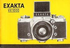 1960s EXAKTA VX1000 35mm CAMERA OWNERS INSTRUCTION MANUAL -EXAKTA VX 1000