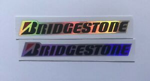 7.3cm Tyre Laser Reflective Decal Stickers For BRIDGESTONE Motorcycle Car