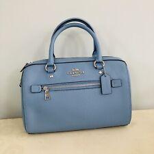 NWT Coach 79946 Rowan Satchel Crossgrain Leather handbag Slate