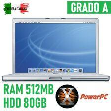 PC Apple Powerbook G4 Late 2003 A1046 Retro Vintage Sammler Tragbar Laptop