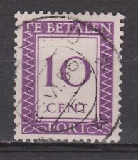 Port 40 used Suriname portzegel 1950 ALL DUE STAMPS PER PIECE