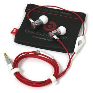 Monster Beats by Dr. Dre iBeats Headset Kopfhörer In-Ears 3,5 mm Klinke weiß