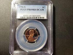 1996 S PCGS PR69RD DCAM 1C LINCOLN MEMORIAL