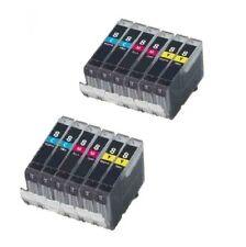 12x Drucker Patronen für canon PIXMA IP 4200 4300 ip4500 5200 mit Chip IP3300 8c