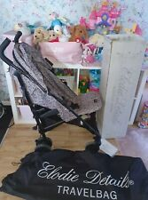 Elodie details petite botanic floral girls pushchair stroller with bag and box