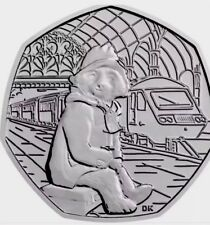 UK GB 50p Pence Coin 2018 Paddington At Station New UNC From Bags