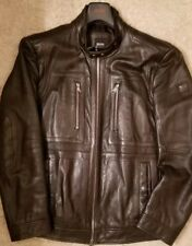 Hugo Boss Soft Lamb Nappa Jacket 'Gento1' 40R Large Brown $795 MINT