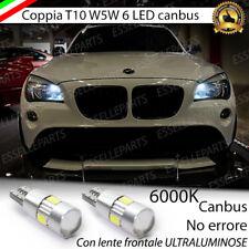 COPPIA LUCI DI POSIZIONE 6 LED T10 CANBUS 6000K BMW X1 E84 BIANCO GHIACCIO
