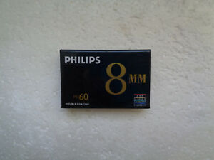Cassette Vierge pour Camescope Video8 PHILIPS PS-60 - Video 8 Neuf
