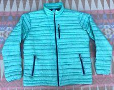 Patagonia Ultralight Solar Wind Aqua Blue Down Jacket Men's Size Large Nice