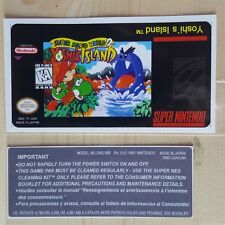 REPLACEMENT SNES CARTRIDGE STICKER LABELS FOR: SUPER MARIO WORLD 2 YOSHIS ISLAND
