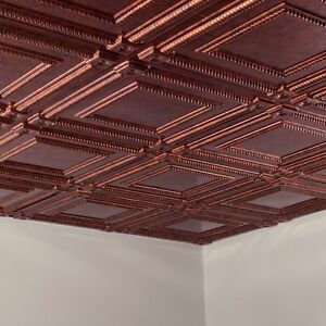 Fasade - Coffer 2ft x 2ft Lay In Ceiling Tile/Panel (5 Pack)