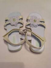 NWT Gymboree - Petit Four - lime flower sandals sz 10