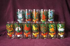 Complete set of 12 Twelve Days of Christmas glass tumblers Brockway EUC