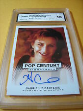 GABRIELLE CARTERIS BEVERLY HILLS 90210 AUTO 2013 LEAF POP CENTURY #GC1 GRADED 10