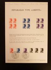 FRANCE MUSEE POSTAL FDC 22-83   REPUBLIQUE TYPE LIBERTE  2+2,80+10F  PARIS  1983