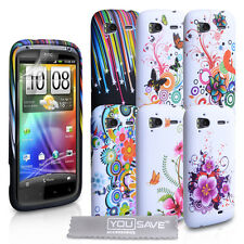 Accessories For The HTC Sensation Stylish Floral Design Silicone Case Cover Skin