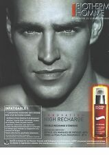 PUBLICITE ADVERTISING 2007  BIOTHERM HOMME high recharge                  130612